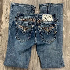 Miss Me jeans signature boot cut size 26 bling